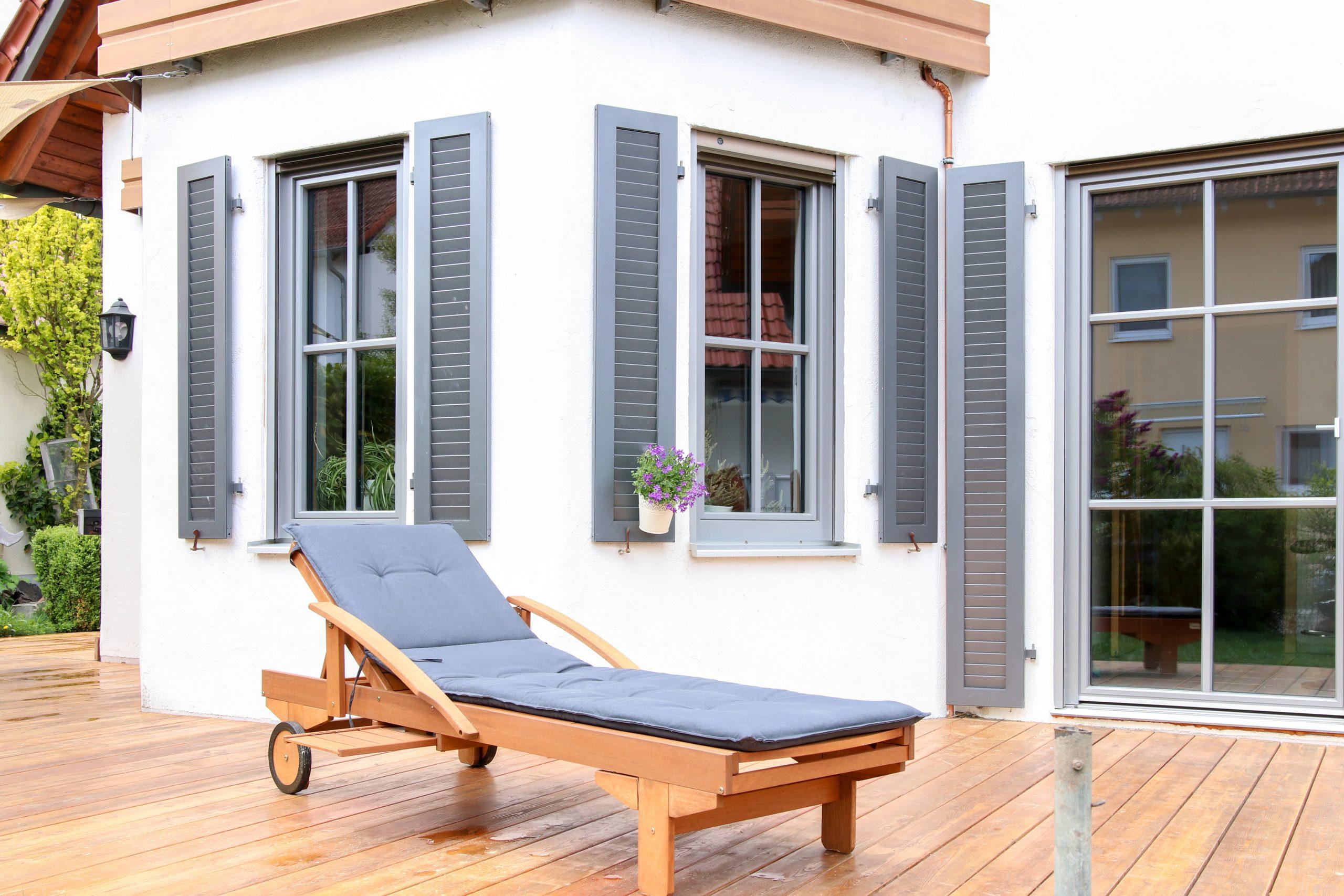 Fenster innen Holz, außen Alu